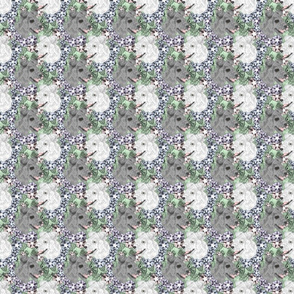 Floral Pumi portraits - small