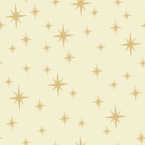 Vintage Christmas Stars in Gold