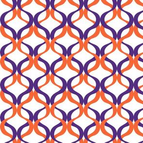 Orange and purple team color Wave