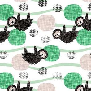 Adorable little baby sloth print jungle trees pura vida collection fall green