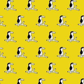 Pura vida tropical birds collection toucan jungle animals fall summer yellow