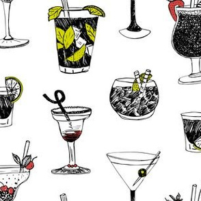 Cocktailparty - drinks with strawberry and lime
