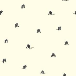 gorillas leave the mist