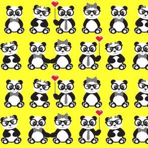 Panda Geek Chic Yellow