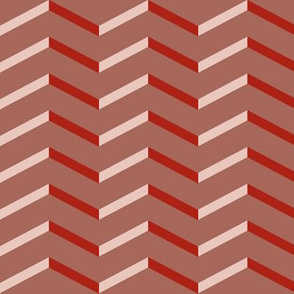pink and red chevron | pencilmeinstationery.com