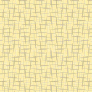 Woven-Yellow and Grey