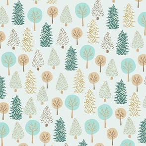 Forest Trees/ Pinecones trees/ Winter Trees/ Camping