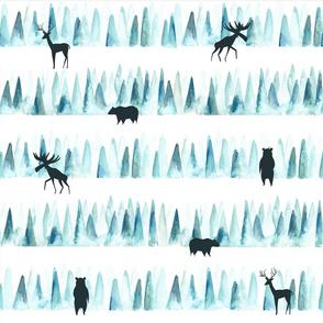 Watercolor woodland/ Forest animals woodland/ Lumberjack