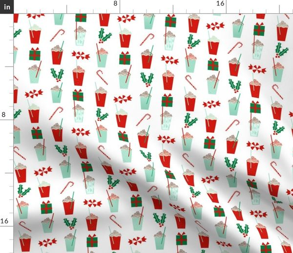 5645687 christmas peppermint latte candy cane holly cute coffee latte christmas peppermints by charlottewinter