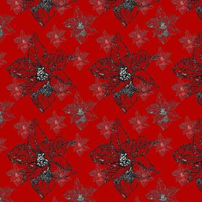 Poinsettia-Vintage-Red
