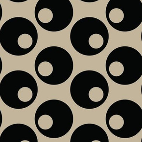16-16E Martini Black Olives Taupe Japan Japanese Asian Vegetable Polka dot_Miss Chiff Designs