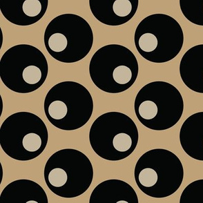 16-16D Martini Black Olives Graphic Tan Khaki Brown Japan Japanese Asian Vegetable Food Polka Dot_Miss Chiff Designs