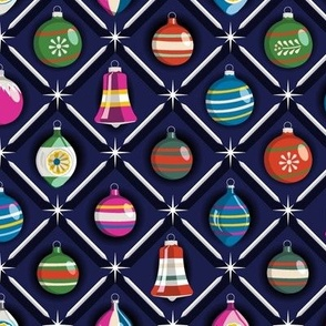 Shiny & Bright* || vintage glass Christmas tree holiday ornaments star diamond geometric starburst shine sparkle mercury