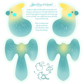 Sparkling Cockatiel Plush Pattern