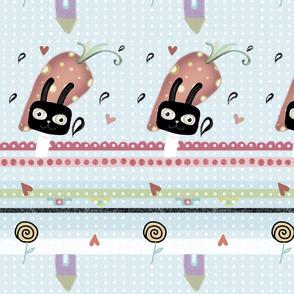 Wild carrot fabric