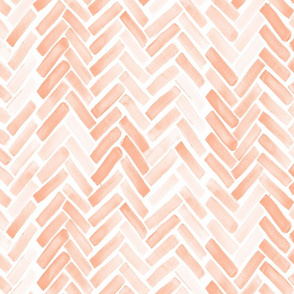 pale blush watercolor herringbone