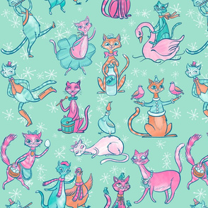 12 Cats of Christmas in Blue