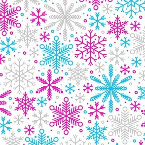 Season of Snow (Pink and Blue)