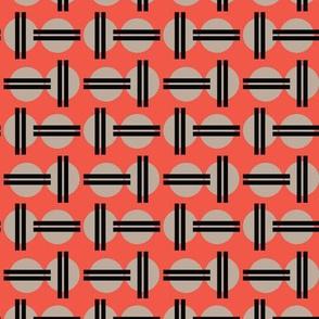 16-16B Asian Sun || Taupe Black Orange Japanese Japan Red Graphic Chop Sticks  _ Miss Chiff Designs
