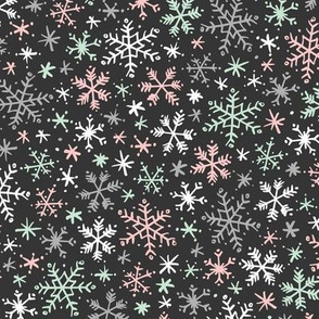 Snowfall (Mint and Pink Dark)