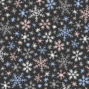 Snowfall (Rose Quartz and Serenity Dark)
