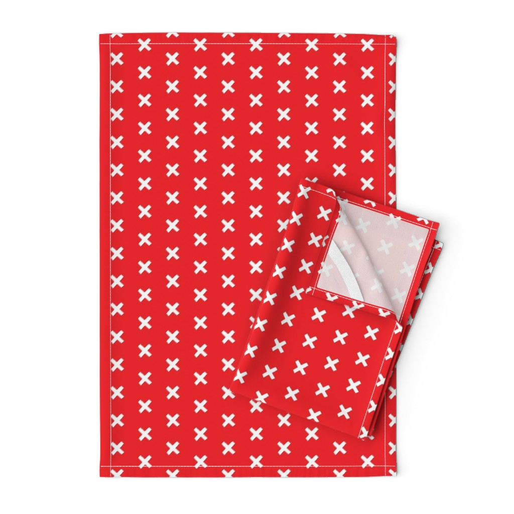 Orpington Tea Towels featuring Get crossed! - red chilli by sosewkatie