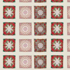 white russian floral shawls mini