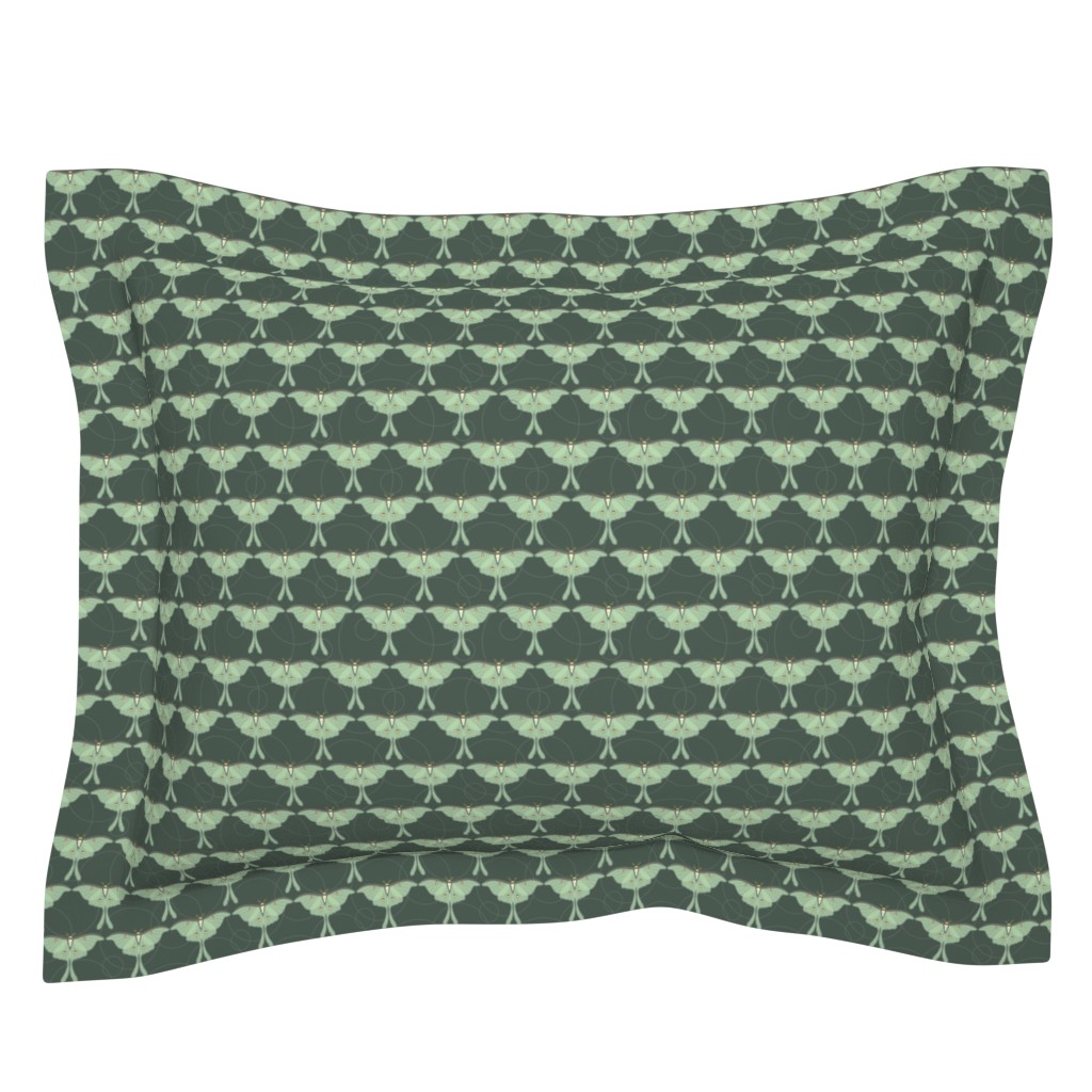 Sebright Pillow Sham featuring Luna Moth by cindylindgren