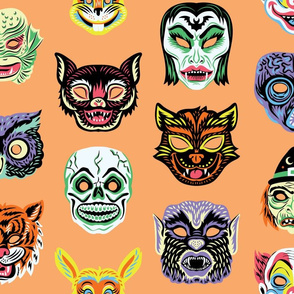 Halloween Masquerade in Orange
