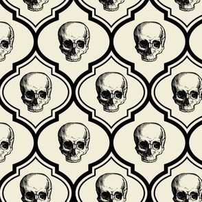 French Skulls - bone & black