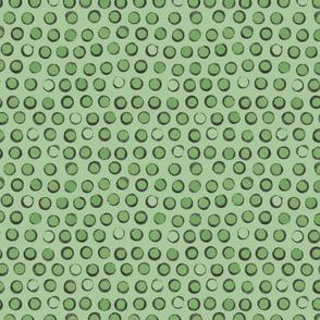 sweet peas green dot pattern
