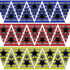 Mini Bunting_Banner-skull-stars_with_red_blue_yellow