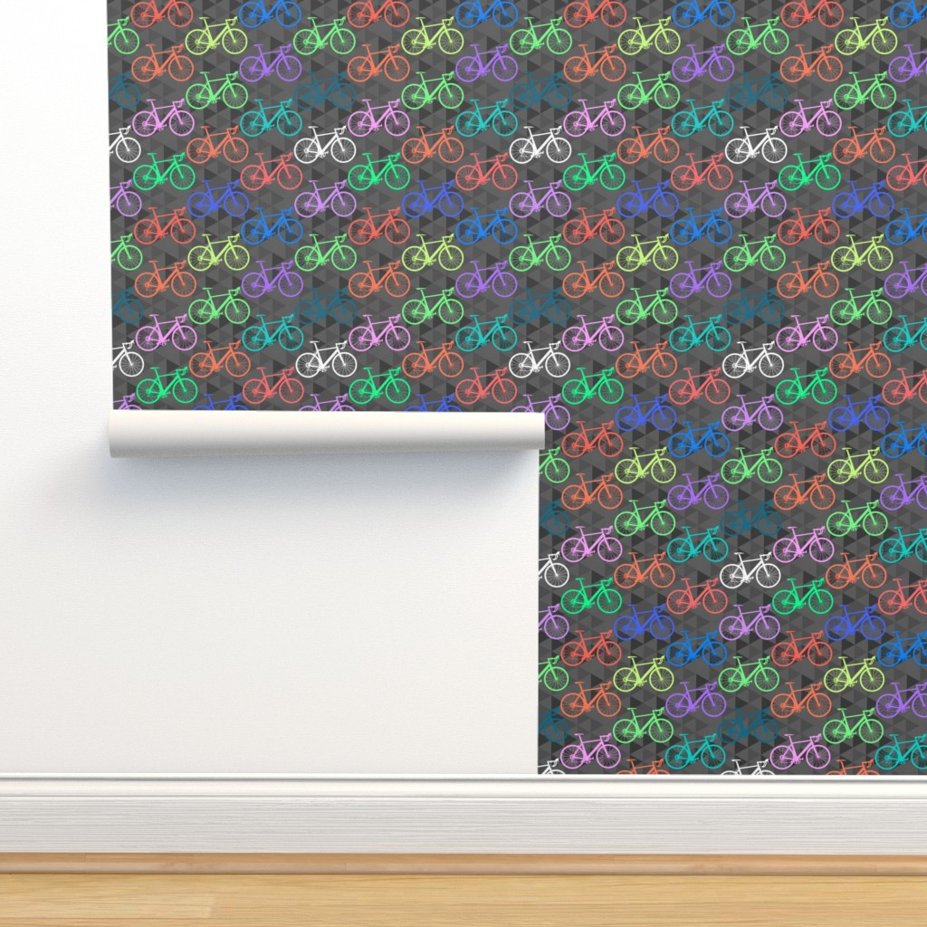 Isobar Durable Wallpaper featuring Bright Bikes by abbieuproot