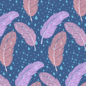 Feathers, Raindrops