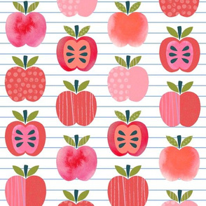 Pink Lady Apple - Notebook Stripe