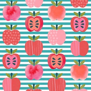 Pink Lady Apples - Teal Stripe