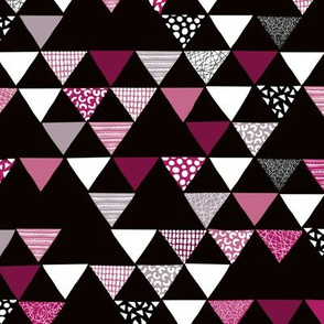 Geometric tribal aztec triangle dark maroon cherry fall colors