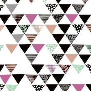 Geometric tribal fall aztec arrows triangle mint magenta
