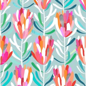 Protea-Aqua-Wallpaper