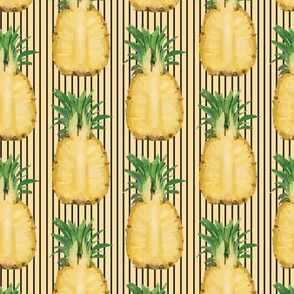 16-13Q Pineapple Fruit Food Summer Tropical Golden Yellow Hawaii_Miss Chiff Designs