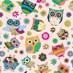 OWLY on pink