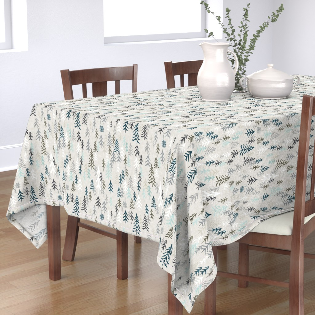 Bantam Rectangular Tablecloth featuring Solitude (earth) by nouveau_bohemian