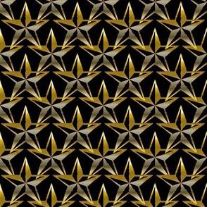 Gold Stars Black Background