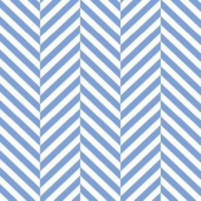 herringbone LG cornflower blue