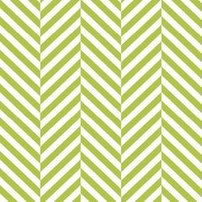 herringbone LG lime green