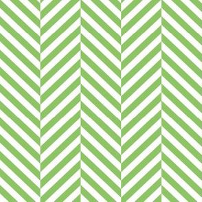 herringbone LG apple green