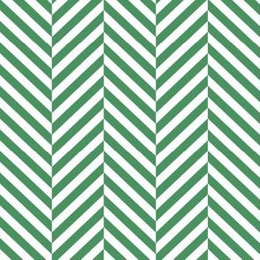 herringbone LG kelly green