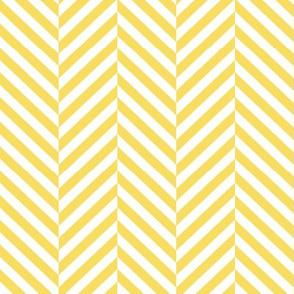 herringbone LG butter yellow