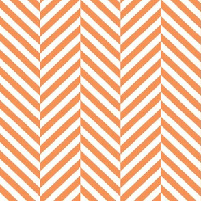 herringbone LG tangerine