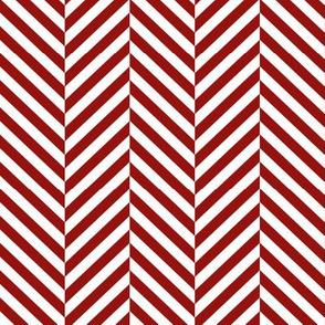 herringbone LG dark red